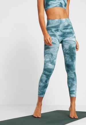 GOOD KARMA TIE DYE LEGGING - Legging - blue green