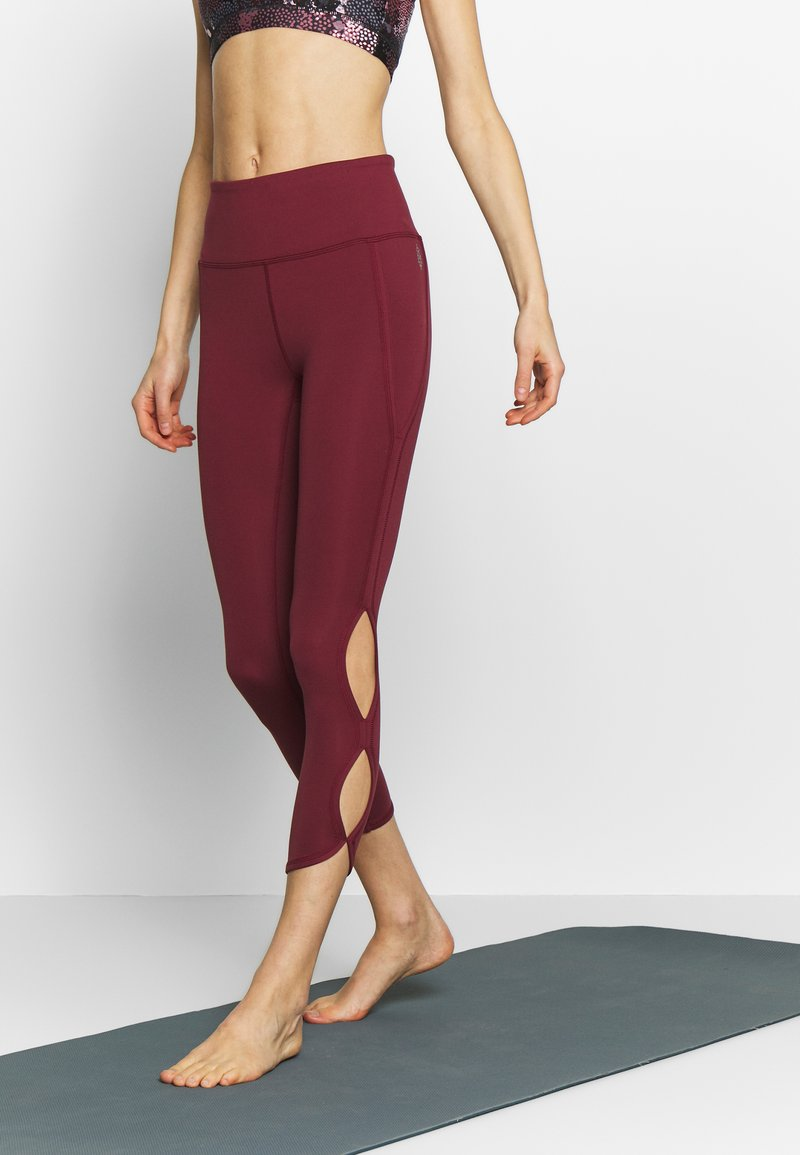 Free People - HIGH RISE INFINITY - Legging - wine
