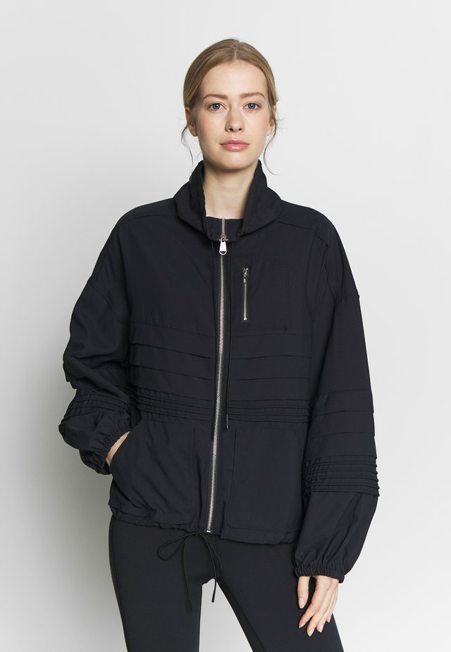 CHECK IT OUT JACKET - Sportovní bunda - black