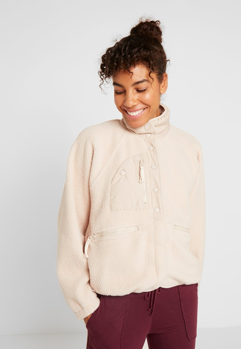 Free People - HIT THE SLOPES JACKET - Fleecejas - neutral