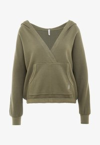 Free People - FP MOVEMENT REYES HOODIE SOLID - Sweat à capuche - army - 3