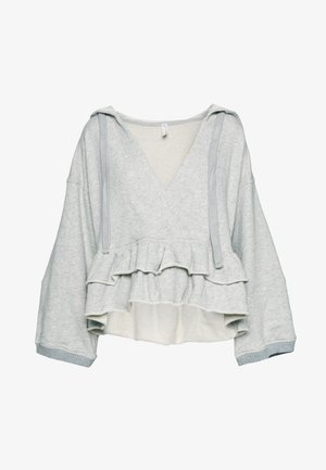 SIDE SWEPT HOODIE - Bluza z kapturem - grey