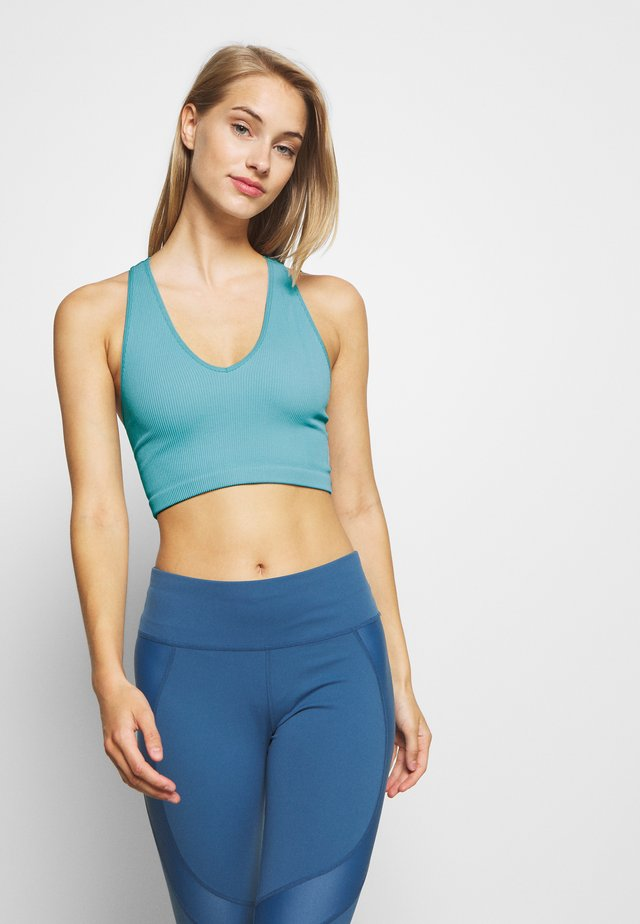 FREE THROW CROP - Sport BH - turquoise