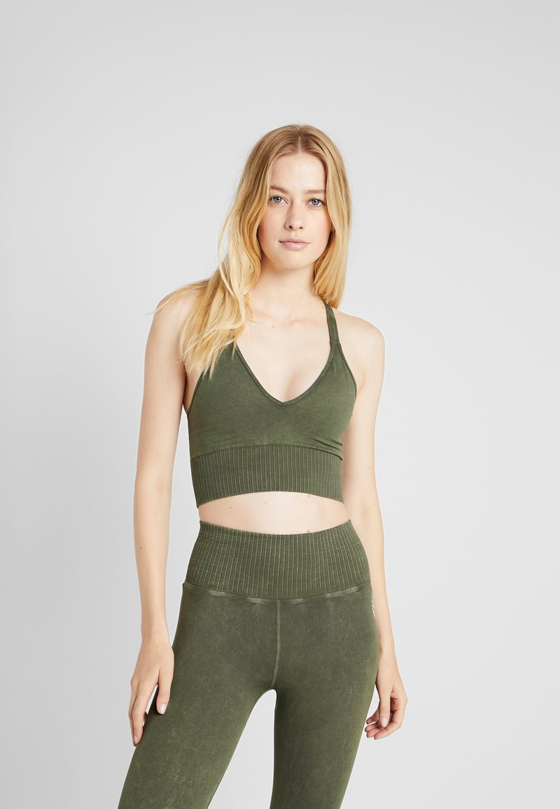 Free People - GOOD KARMA CROP - Sports-bh'er - army