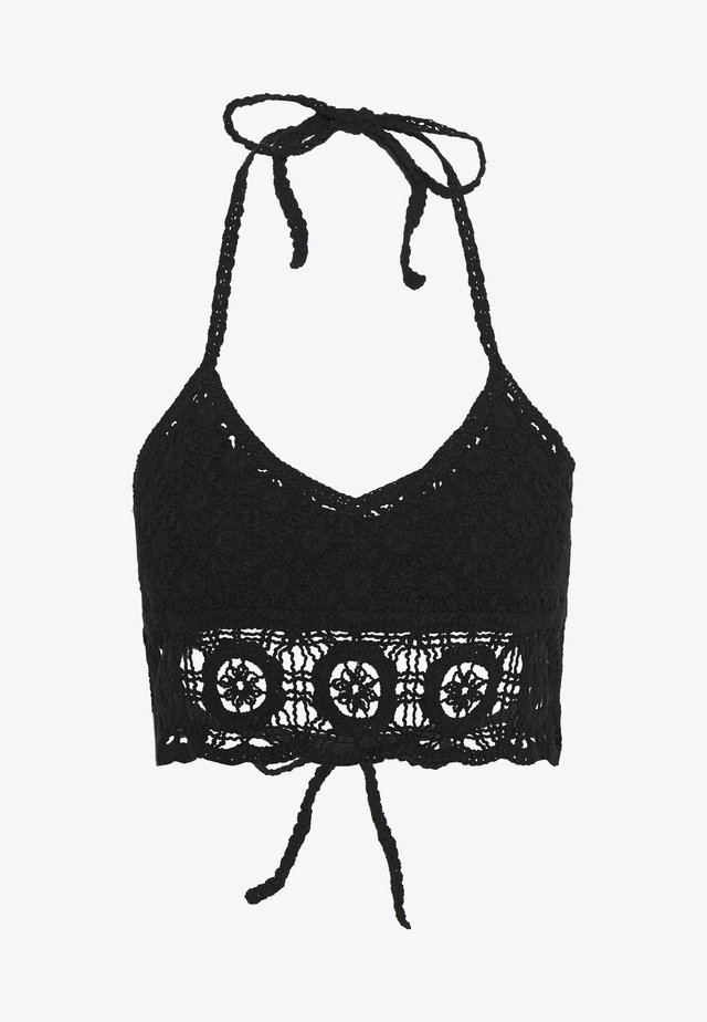 SYDNEY CROCHET BRALETTE - Beach accessory - black