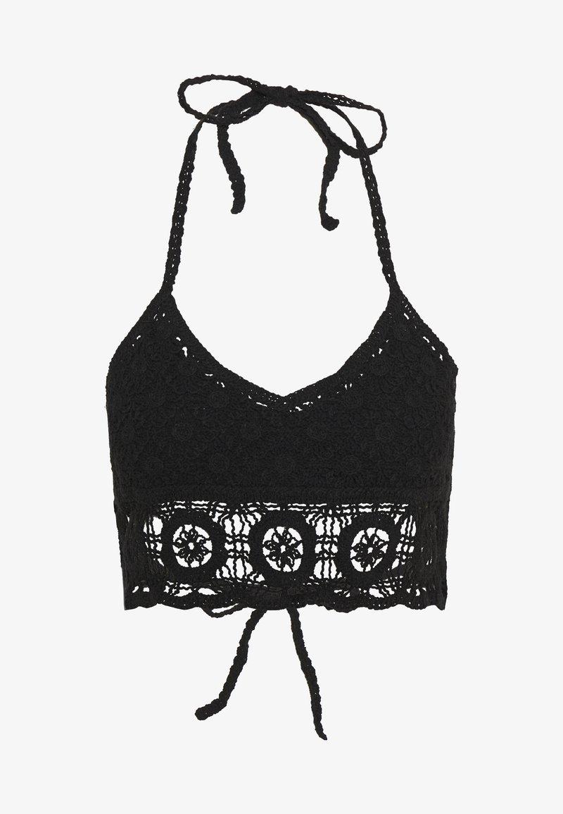Free People - SYDNEY CROCHET BRALETTE - Doplňky na pláž - black