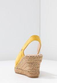 Fred de la Bretoniere - Korkeakorkoiset sandaalit - yellow - 5