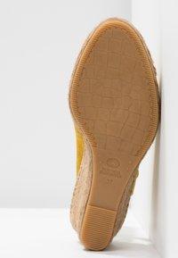 Fred de la Bretoniere - Korkeakorkoiset sandaalit - yellow - 6
