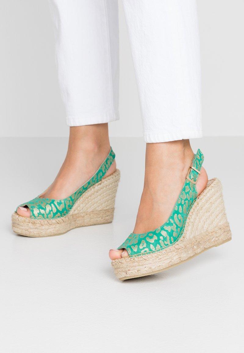 Fred de la Bretoniere - Højhælede sandaletter / Højhælede sandaler - green