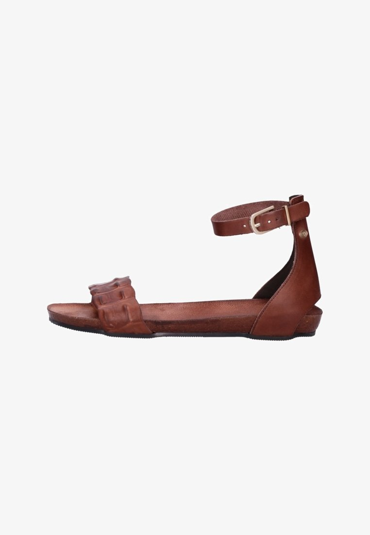 Fred de la Bretoniere - Ankle cuff sandals - dark brown