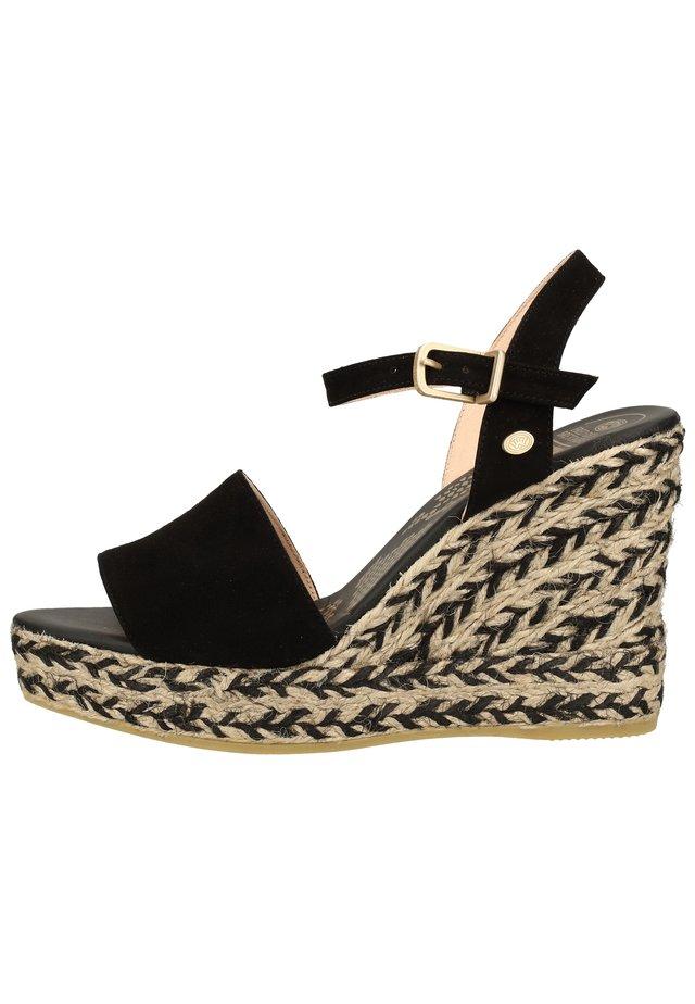 FRED DE LA BRETONIERE SANDALEN - Højhælede sandaletter / Højhælede sandaler - black 0009