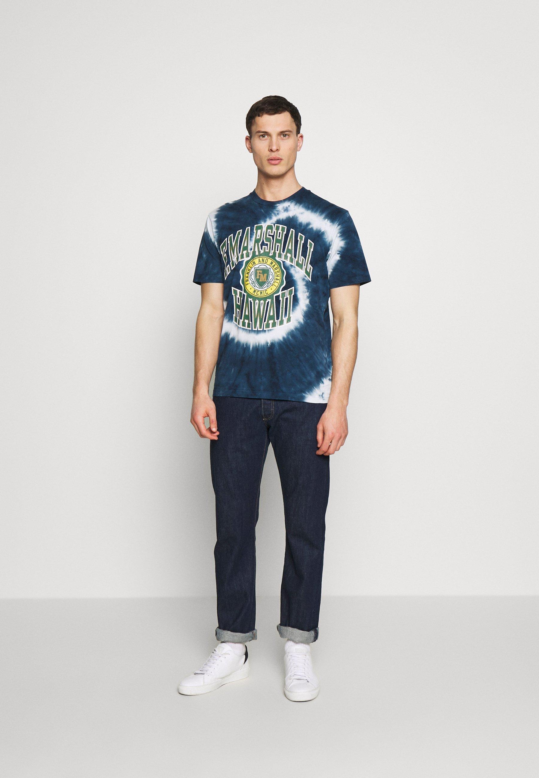 Franklin & Marshall T-shirt Med Print - Navy