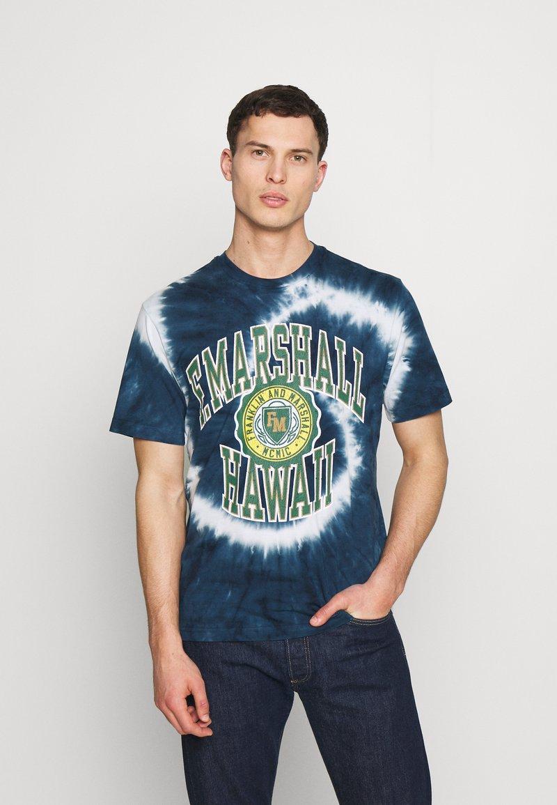 Franklin & Marshall - T-shirt med print - navy