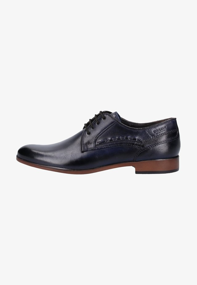 Smart lace-ups - navy blue