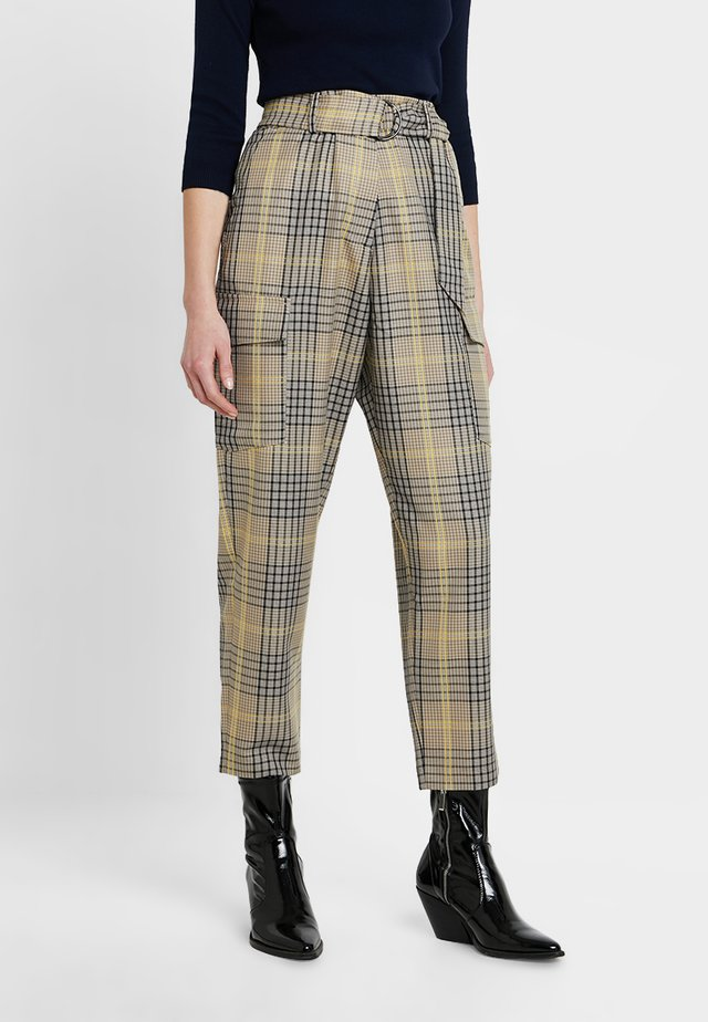 AISHAH BELTD HGH WAIST - Spodnie materiałowe - multi