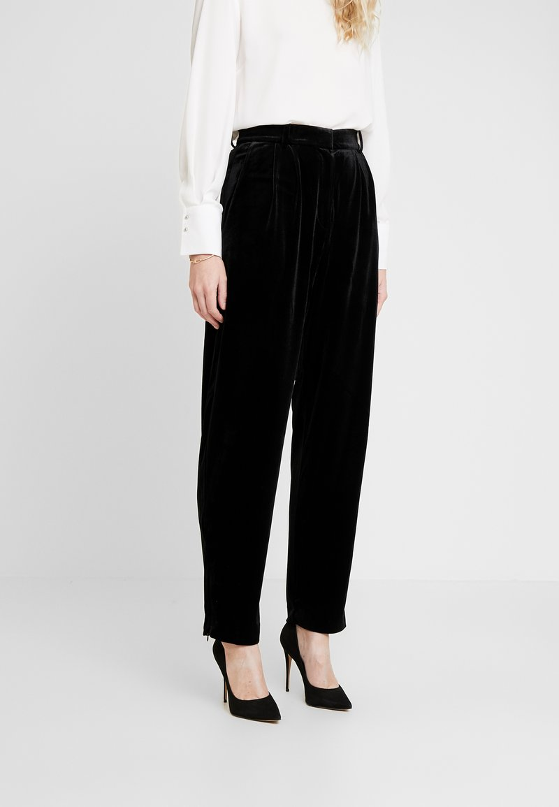 French Connection - AMATO WIDE LEG TROUSER - Trousers - black