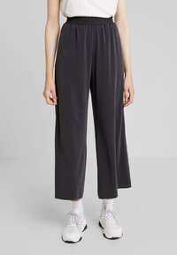 French Connection - RENYA CUPRO CULOTTES - Trousers - black - 0