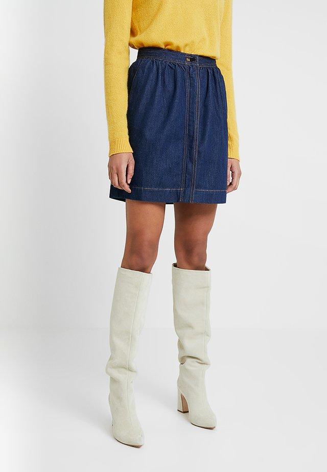 JULE CONTRAST SKIRT - Denim skirt - rinse blue