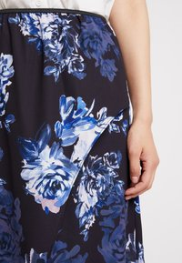 French Connection - CATERINA MIDI WRAP - Wrap skirt - utility blue multi - 4