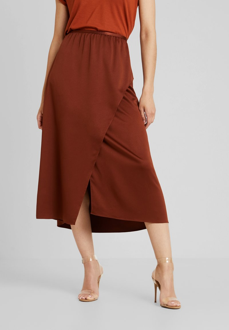 French Connection - ALESSIA DRAPE SKIRT - Maxi skirt - casablanca