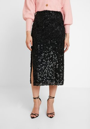 DESIREE SEQUIN SKIRT - Pencil skirt - black
