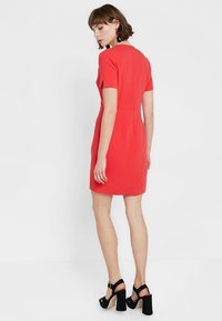 French Connection - WHISPER RUTH WRAP DRESS - Shift dress - fire coral - 3