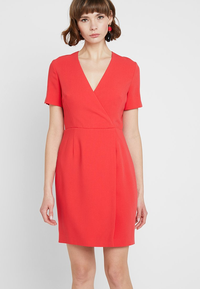 French Connection - WHISPER RUTH WRAP DRESS - Shift dress - fire coral