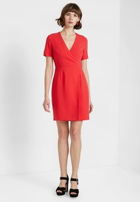 French Connection - WHISPER RUTH WRAP DRESS - Shift dress - fire coral - 2