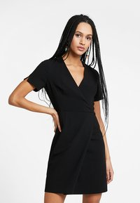 French Connection - WHISPER RUTH WRAP DRESS - Shift dress - black - 0