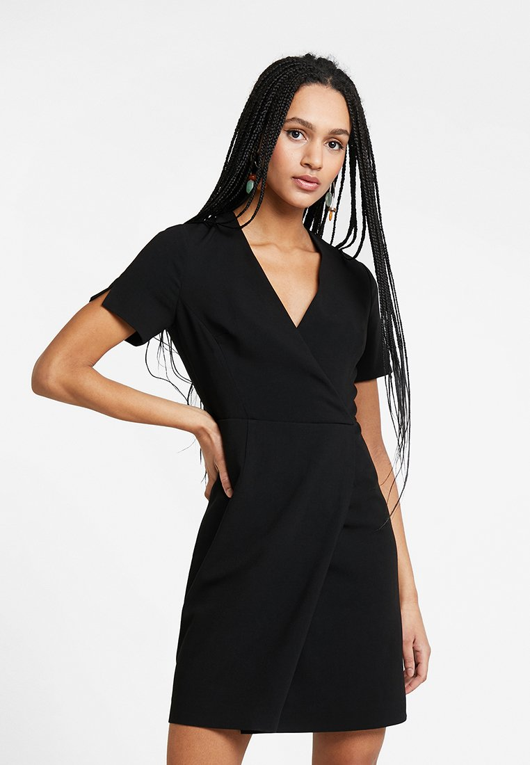 French Connection - WHISPER RUTH WRAP DRESS - Shift dress - black