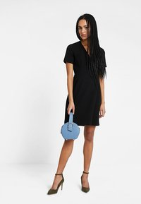 French Connection - WHISPER RUTH WRAP DRESS - Shift dress - black - 2