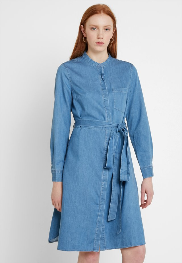 LEONDRA WRAP - Denim dress - denim blue