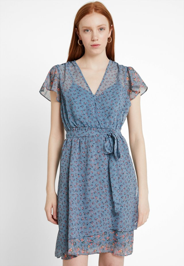 CELESTIA SHEER WRAP DRESS - Robe d'été - summer surf
