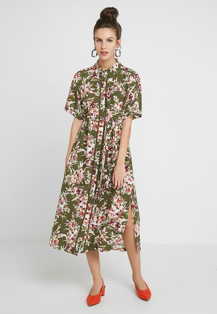 French Connection - FLORIANA DRAPE MIDI - Shirt dress - multi
