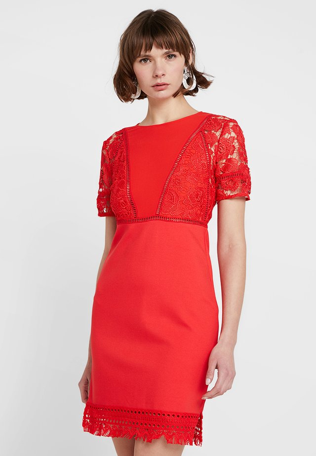 VIOLA LULA  - Shift dress - fire coral