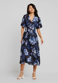 French Connection - CATERINA DOWN - Maxi dress - utility blue multi - 0