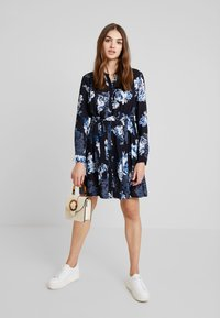 French Connection - CATERINA CREPE  - Day dress - utility blue multi - 2