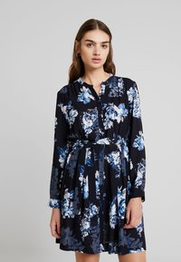 French Connection - CATERINA CREPE  - Day dress - utility blue multi - 0