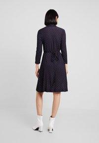 French Connection - POLKA DOT DRESS - Jersey dress - dark blue/white - 2