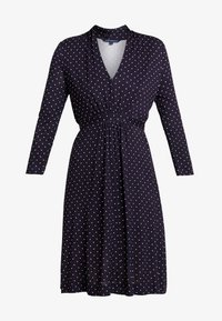 French Connection - POLKA DOT DRESS - Jersey dress - dark blue/white - 4