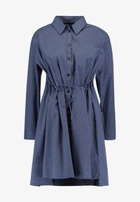 French Connection - MATTIA CHECK DRAWSTRNG - Shirt dress - dark blue/white - 5