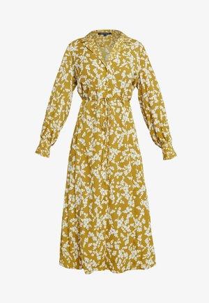 BRUNA LIGHT DRESS - Długa sukienka - citronelle/cream