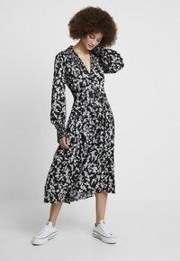 French Connection - BRUNA LIGHT DRESS - Maxi dress - black/classic cream - 0