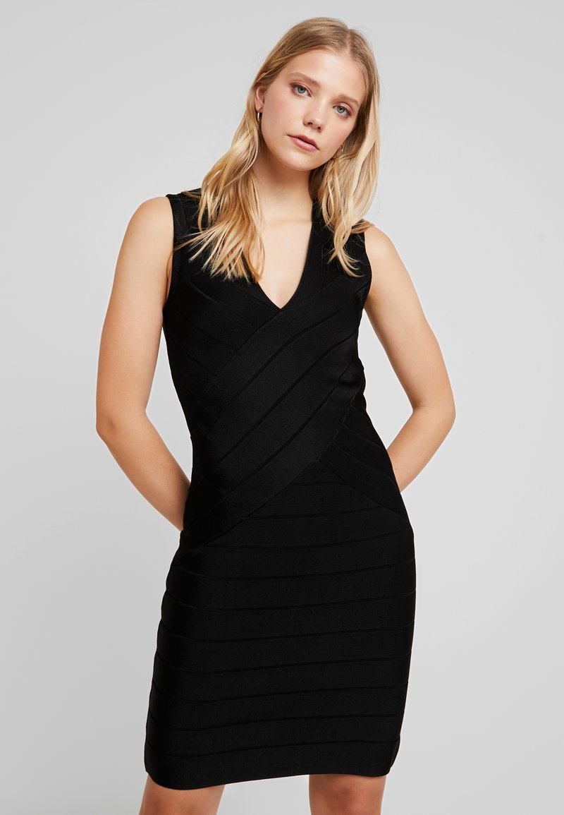 French Connection - ZASHA  - Shift dress - black
