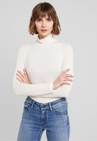 French Connection - VENETIA SPLIT CUFF - Long sleeved top - classic cream - 0