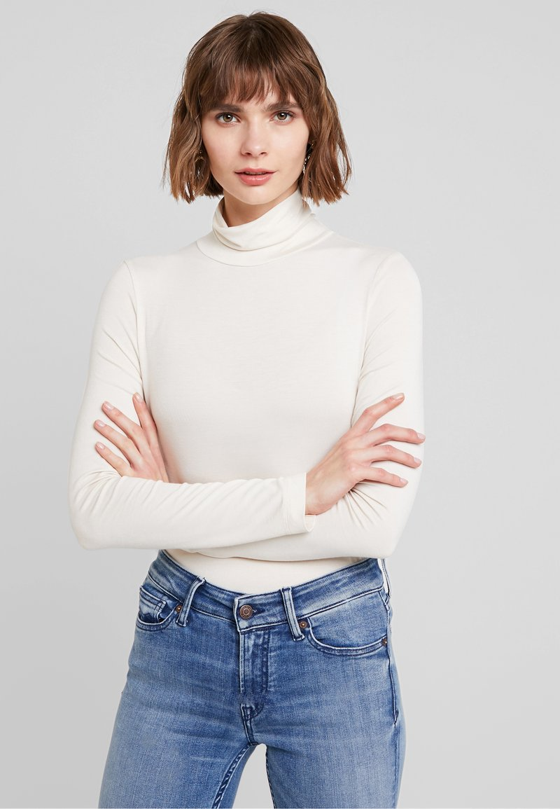 French Connection - VENETIA SPLIT CUFF - Long sleeved top - classic cream