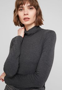 French Connection - VENETIA SPLIT CUFF - Long sleeved top - charcoal melange - 4