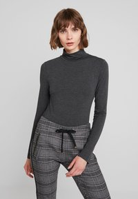French Connection - VENETIA SPLIT CUFF - Long sleeved top - charcoal melange - 0