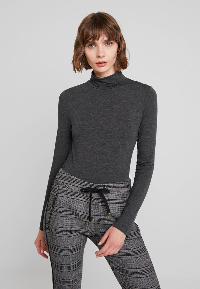 French Connection - VENETIA SPLIT CUFF - Long sleeved top - charcoal melange