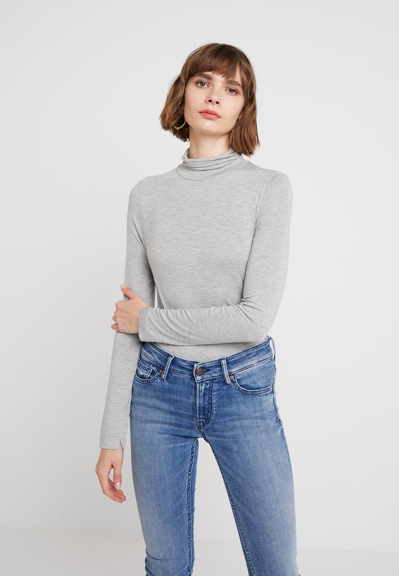 French Connection - VENETIA SPLIT CUFF - Long sleeved top - light grey